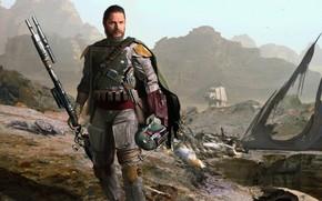 Картинка Tom Hardy, Боба Фетт, охотник за головами, Juan Hugo Martinez, персонаж фантастической киносаги «Звёздные войны», …