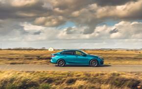 Картинка скорость, BMW, вид сбоку, Gran Coupe, UK-spec, 2-Series, M Sport, 2020, 218i, F44