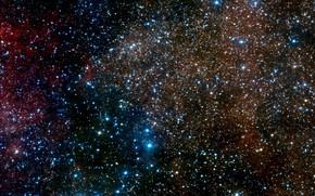 Картинка Stars, Nebula, Messier 17, Messier 16, H II region, Sharpless 2-54, Constellation of Serpens Cauda, …