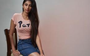 Картинка girl, eyes, smile, beautiful, figure, model, pretty, beauty, lips, face, hair, brunette, pose, cute, indian, …