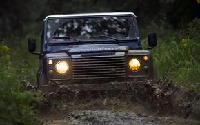 Картинка грязь, Land Rover, Defender, 2013, Defender 90