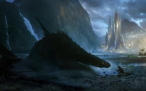 Картинка дракон, fantasy, Bastien Grivet, A new friend