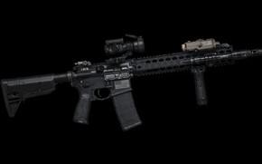 Обои капли, полуавтоматическая винтовка, AR-15, фон, ручка, оружие