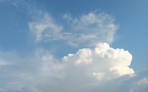 Картинка небо, облака, белые