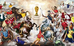 Обои Luka Modric, Луис Суарес, ЧМ 2018, Robert Lewandowski, Лука Модрич, Роберт Левандовский, Luka Modrić, Cristiano ...