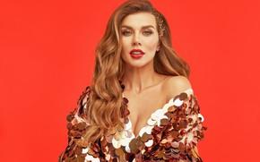 Картинка взгляд, макияж, платье, актриса, певица, Анна Седокова, model, hair, фотомодель, actress, Anna Sedokova