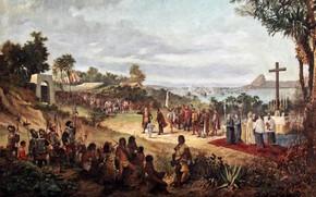 Картинка картина, живопись, painting, Antonio Firmino, The Founding of Rio de Janeiro, Антонио Фирмино, Основание Рио-де-Жанейро