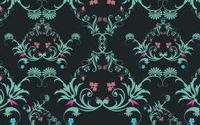 Картинка цветы, узор, текстура, винтаж