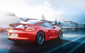 Картинка Красный, Авто, Машина, Cayman, Red, Porsche Cayman, Aircraft, Porsche Cayman GT4, by Umit Isik, Ümit …