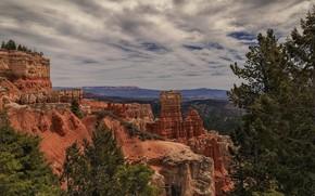 Обои небо, скалы, панорама