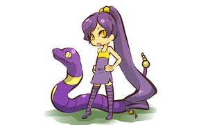 Картинка змея, девочка, girl, snake, косплей, покемон, pokemon, Эканс, хуманизация, Ekans