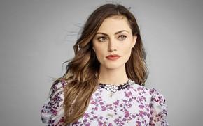 Картинка взгляд, девушка, блузка, Phoebe Tonkin