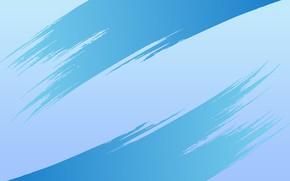 Картинка голубой, мазки, симетрия