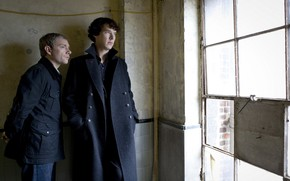 Картинка окно, Мартин Фриман, Бенедикт Камбербэтч, Sherlock, Sherlock BBC, Sherlock Holmes, Джон Ватсон, Sherlock (сериал)