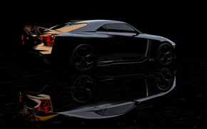 Картинка Nissan, боком, 2018, ItalDesign, GT-R50 Concept