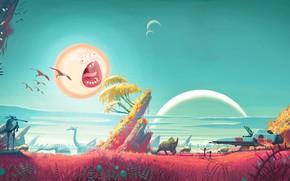 Картинка Солнце, Art, Smith, Sanchez, Rick, No Man's Sky, Rick and Morty, Рик и Морти, Morty, …