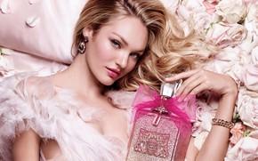 Картинка взгляд, девушка, лицо, стиль, модель, розы, духи, макияж, красотка, Candice Swanepoel