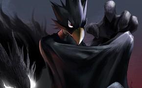 Картинка тень, парень, причуда, My Hero Academia, Boku No Hero Academia, Моя Геройская Академия