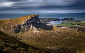 Картинка океан, побережье, Новая Зеландия