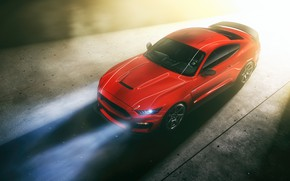 Обои Mustang, Ford, Light, RED