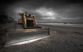 Картинка трактор, England, Shifting Sands, Boscombe