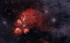Картинка Nebula, NGC 6334, Constellation Scorpius, DSS 2, Cat's Paw Nebula