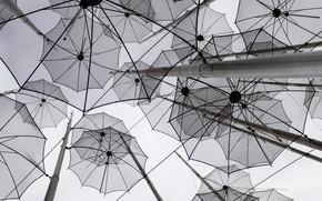 Картинка decoration, umbrellas, gray, miscellaneous, 2k hd background