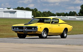 Картинка Muscle, Classic, Coupe, Yellow, Dodge Charger