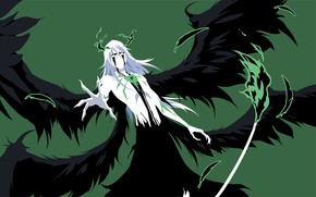 Картинка крылья, Bleach, Блич, аранкар, Улькиорра Шиффер, минималлизм