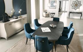Картинка комната, интерьер, столовая, luxury apartment