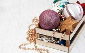 Картинка праздник, шары, игрушки, новый год, Olena Rudo