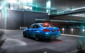 Картинка Авто, Ночь, Синий, BMW, Машина, Car, Art, Render, Design, BMW M3, Transport & Vehicles, by …