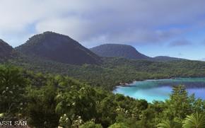 Картинка горы, берег, побережье, растительность, la costa
