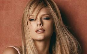 Картинка взгляд, девушка, лицо, портрет, макияж, губы, Taylor Swift