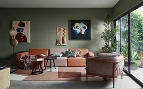 Картинка комната, интерьер, гостиная