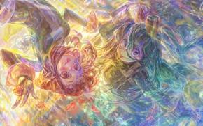 Картинка взгляд, девушки, Boku No Hero Academia, Моя геройская акадеимя