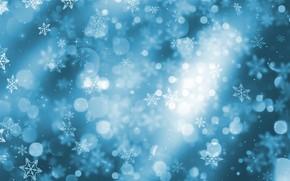 Картинка зима, снег, снежинки, фон, Christmas, blue, winter, background, snow, snowflakes