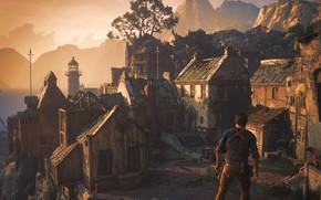 Картинка здания, Naughty Dog, Playstation 4, Uncharted 4: A Thief's End, Либерталия, Нэйтан Дрейк