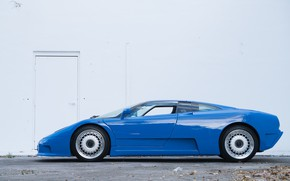 Картинка Blue, Суперкар, Вид сбоку, Bugatti EB110