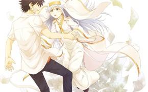 Картинка девушка, аниме, арт, парень, To Aru Majutsu no Index