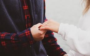 Картинка романтика, руки, кольцо, двое