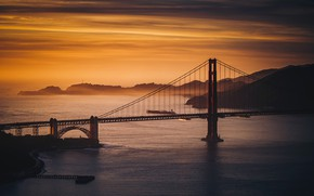 Картинка Golden Gate Bridge, United States, California, Marina