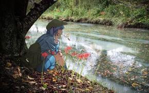 Картинка ручей, девочка, Тоухоу