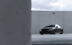 Картинка Audi, Black, Quattro, Sportback, RS7, 4.0TT