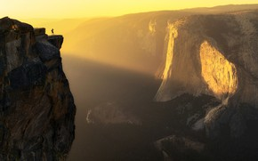 Картинка свет, человек, каньон, light, man, canyon, Aidong Ning