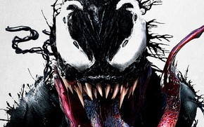 Картинка язык, взгляд, Веном, Venom, симбиот