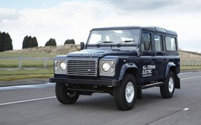 Картинка дорога, прототип, Land Rover, Defender, 2013, All-terrain Electric Research Vehicle