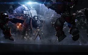 Картинка Девушка, Игра, Крылья, Королева Зергов, StarCraft 2, Sarah Kerrigan, Blizzard Entertainment, Персонаж
