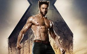 Картинка Хью Джекман, раны, Люди Икс, X-Men Origins: Wolverine, Россомаха