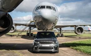 Картинка Land Rover, Range Rover, Sport, Silver, Aircraft, SVR, Urban Automotive